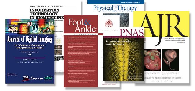 Various medical peer review journals